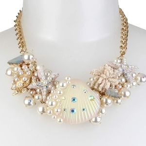 Betsey Johnson💎Shell🐚Turtle🐢Statement Necklace